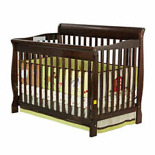 NEW 5 in 1 Convertible Baby Crib Toddler Nursery Bed Changer Side Dream on Me