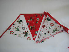 Hand Made 6ft /10 Flag Christmas Fabric Bunting Garland Ceiling Decoration