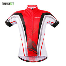 New Men's Cycling Jersey Comfortable Bike/Bicycle Outdoor Shirt S-2XL RED COLOR