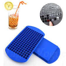 Cool 160 Ice Cubes Cube Pudding Jelly Silicone Tray Maker Mould Mold Tool 43