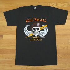 VINTAGE US ARMY TEE SHIRT KILL EM ALL LET GOD SORT EM 1986 50/50 SIZE S M L XL