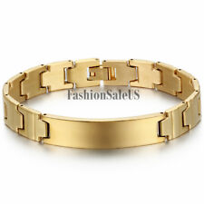 Men's Polished Stainless Steel Bracelet Bangle Cuff Wristband Chain Charm Link