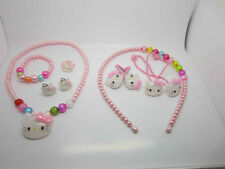HelloKitty Necklace Bracelet Earrings Hair Clip Head band Ring Girl Jewelry Sets