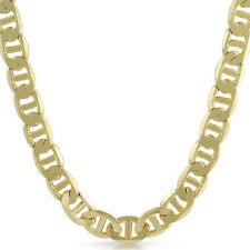 13mm Jumbo Gold Plated Italian Mariner Chain Mens Necklace