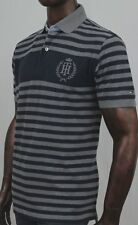 Tommy Hilfiger Navy And Gray Stripe Polo   ~ NWT ~