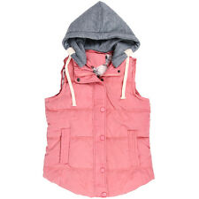 Women Autumn Winter Hooded Waistcoat Thick Warm Vest Collar Female Jacket Coat