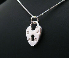 HEART LOCKET PENDANT STERLING SILVER 925 GIFT STRING SILVER ENDS BY JOLLER