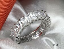BAGUETTE CUT ETERNITY ENGAGEMENT RING WEDDING RING ANNIVERSARY BAND~6.67 C~ET12M