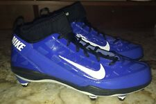 NEW Mens 9 NIKE Air Zoom Super Bad 3 D Blue Black Whi Detachable Football Cleats