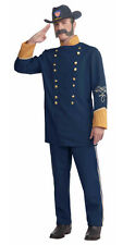 Civil War Union Officer Halloween Adult Costume Military Soldier Uniform Outfit