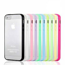 Shockproof Dirtyproof Gel PC Durable Back Cover Case Skin For Apple iPhone 5 5S