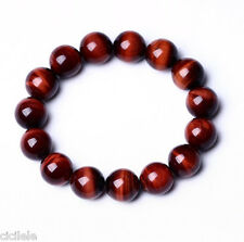 Natural AAA+ Red Tiger Eye Stone Round Beads Stretchy Bracelet Bangle jewelry
