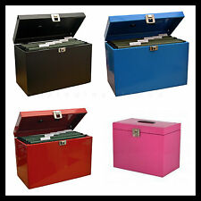 Metal File Storage Box Home Office Filing A4 Files Organiser Cabinet Locking NEW