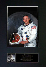 NEIL ARMSTRONG Rare Signed Quality Mounted Autograph Photo Print (A4) No496
