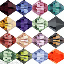 50pcs Faceted Bicone Crystal Glass Clear Loose Spacer Bead 6mm Charm Jewelry