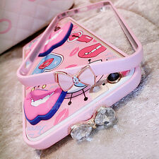 Cute Candy Pink Bowknot Bumper Frame Cover Skin Case for iPhone 5S/6G/6 Plus