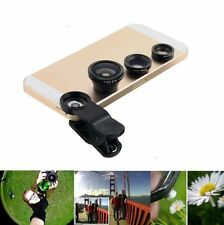 3 in 1 Camera Set Fish Eye Wide Angle Macro Lens Film For IPhone 6 5 4 Phone new