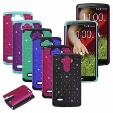 For LG G Stylo LS770 / G4 Note Hybrid Bling Protective Hard Case Cover