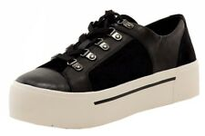 Donna Karan DKNY Women's Briana Black Suede/Leather Platform Sneakers Shoes