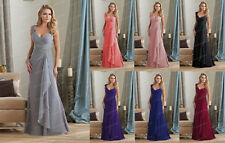 2015 Woman Long Chiffon Evening Formal Party Cocktail Bridesmaid Prom Gown Dress