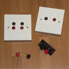 4MM Banana Sockets, Push Terminals Wall Plates Speaker Connection and Accesories