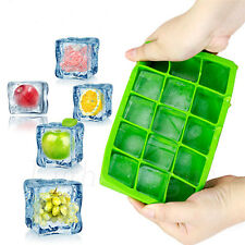 15-Cavity Large Cube Ice Pudding Jelly Soap Maker Mold Mould Tray Silicone v