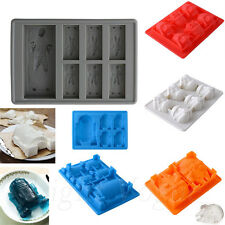 New Silicone Star Wars Ice Tray Mold Ice Cube Tray Chocolate Fondant Mould 051a