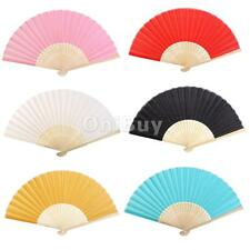 Wedding Party Folding Chinese Bamboo Hand Held Dance Fan Summer Gift DIY Craft