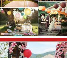 Round Traditional Chinese Hanging Paper Lanterns for Wedding Party Event 6 Size