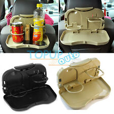 Auto Car Back Seat Folding Table Drink Food Cup Tray Holder Stand Desk Organiser