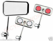Bicycle Chrome Dragster Handlebar Mirror Handle Bar Low Rider Bike Rear View 630