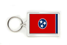 Tennessee State Flag Acrylic Key Ring 3 Sizes Double Sided Keyring Keychain