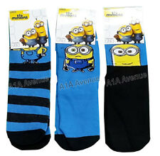 New Kids Boys Girls Despicable Me Minions Movie Socks In 3 Styles And 3 Sizes
