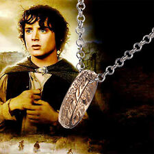 Golden Lord of the Rings One Ring to Rule Them All Necklace Pendant Chain Hobbit