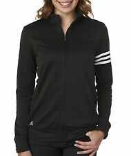 A191 adidas Women Coat Adidas ClimaLite 3-Stripes Full Zip Pullover Jacket NEW
