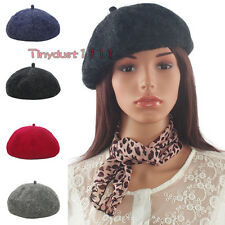 Fashion Women Winter Felt Wool Beret Cap Solid Warm French Artist Painter Hat