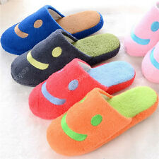 Cool Women Cute velvet Unisex Anti-slip Smile face Slippers Indoor House Warm 4