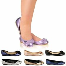 WOMENS LADIES FLAT BALLERINA BALLET CASUAL LOAFERS BALLET PUMPS SUMMER SHOES