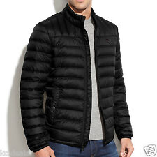 Tommy Hilfiger Black or Green Quilted Down Packable Puffer Mens Coat Jacket