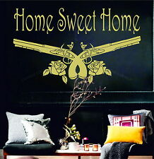 Home Sweet Home Guns N' Roses Decor GNR Vinyl Wall Sticker Art Bedroom Decal