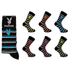 Mens Playboy Striped Socks Size 6-11 EU 39-45 Assorted Pairs Red Black Lot