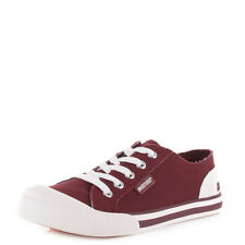 Womens Rocket Dog Jazzin Burgundy Canvas Lace Up Casual Trainers Shoes Size