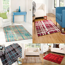 LARGE MEDIUM SMALL MODERN TEAL RED BLUE GREEN THICK ACRYLIC QUALITY RUG / RUNNER