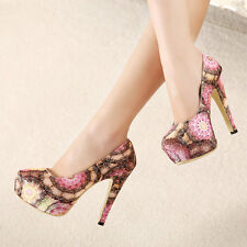 NEW Flower Firework Platform Shoes High Heels Evening Party Sexy Night Club