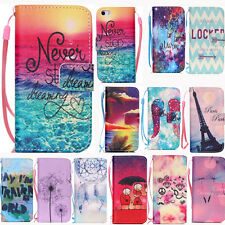 New Pattern Fashion Back Stand Flip PU Wallet Leather Case Cover For iPhone Skin