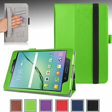 """For Samsung Galaxy Tab S2 8.0"""" Perfect Fit Folio Case Cover Stand w/ Hand Strap"""
