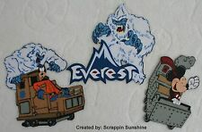 DISNEY EVEREST - YOU CHOOSE Premade Scrapbook Page Paper Piecing Pieces SSFFDeb
