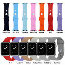Silicone Watch Band Strap for Apple Watch iWatch Sports Edition 38mm/42mm S/M/L