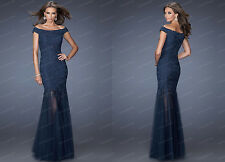 Sexy Long Lace Evening Prom Formal Party Cocktail Bridesmaid Gown Dress 6-16