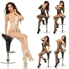 Sexy Bodystocking Catsuit Fetish Swinger CROTCHLESS Open crotch Gothic